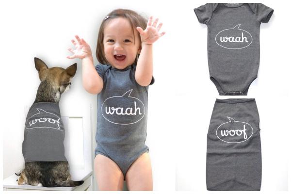 Roupas iguais para o bebê e para seu pet: um amor!