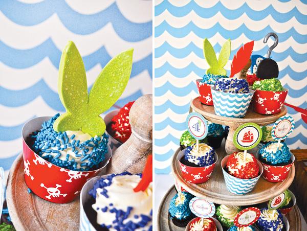 Cupcake festa piratas
