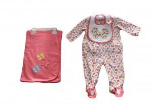 conjunto rosa importado para bebê