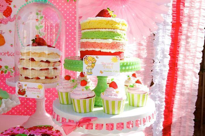 festa moranguinho bolo camadas
