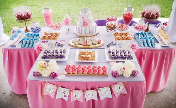 mesa festa das princesas