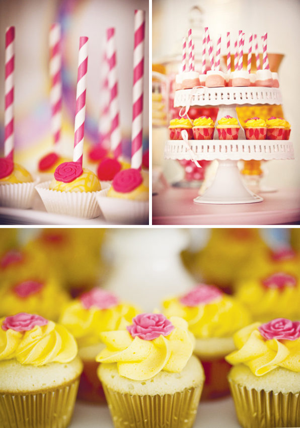 cupcakes a bela e a fera festa