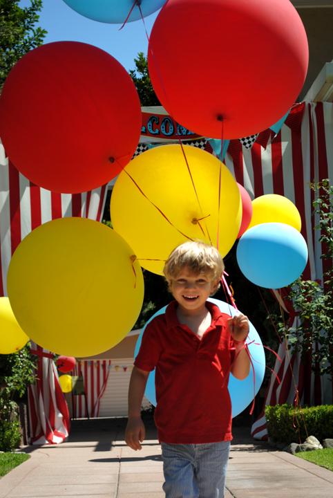 festa circo decoração