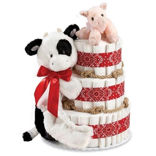 bolo de fraldas fazenda
