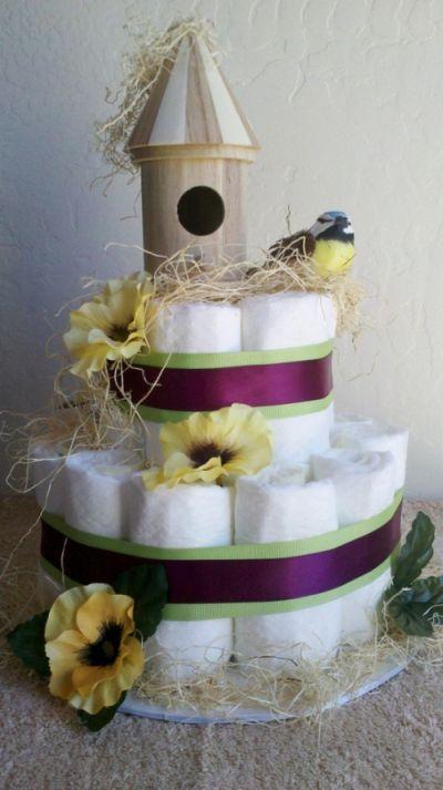 bolo de fraldas passarinho