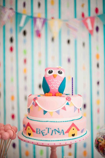 bolo festa corujinhas