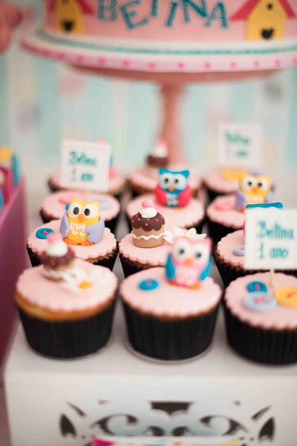 cupcakes festa corujas