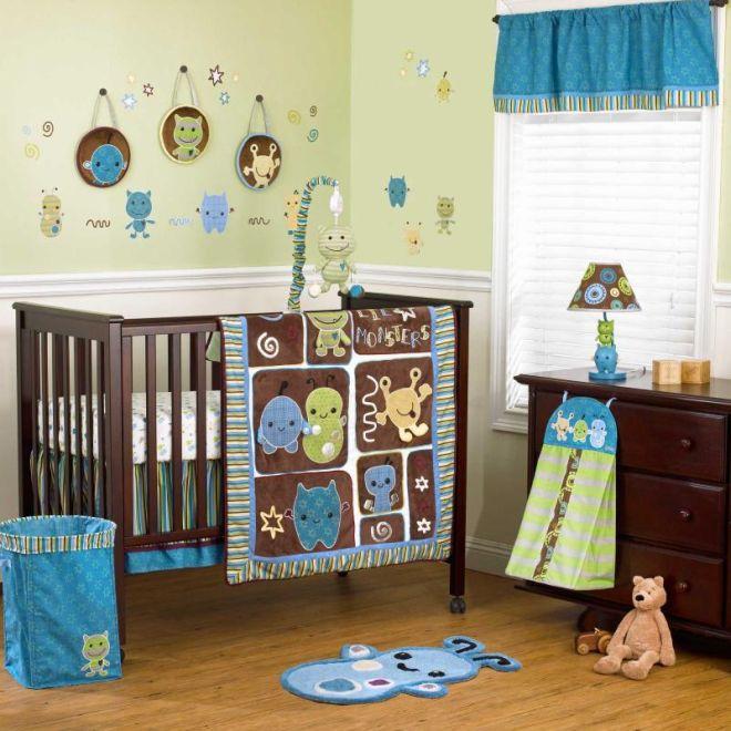 quarto de bebe menino monstros