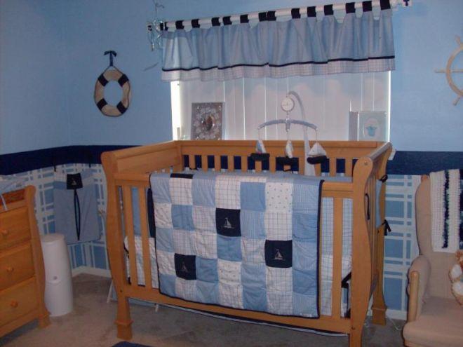 quarto bebe menino azul marinho