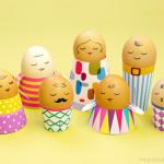 Família de ovinhos para a Páscoa
