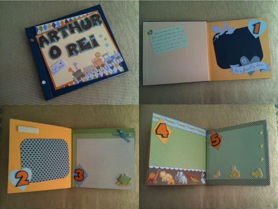 Álbum de bebê em scrapbook: faça o seu!