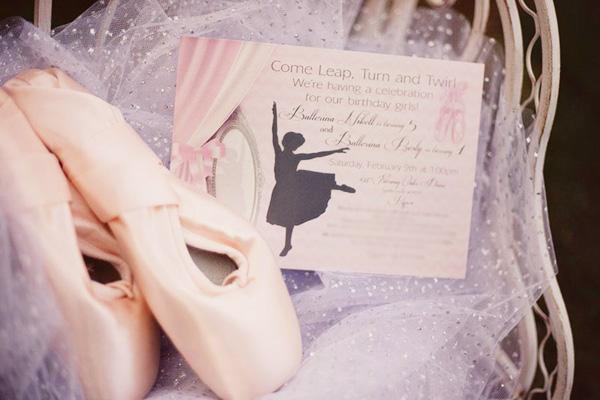 Convite festa bailarina