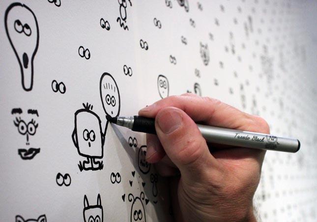 Papel de parede divertido (ou inspiração para uma arte em família!)