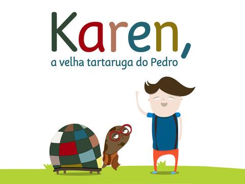 Dica de livro para tablet: Karen, a velha tartaruga do Pedro