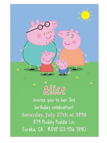 convite festa peppa pig