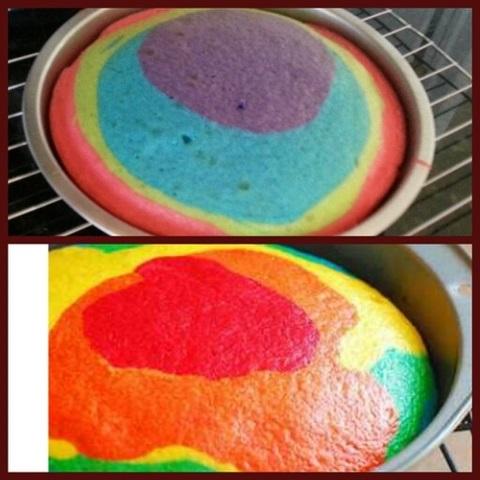 bolo de aniversario colorido