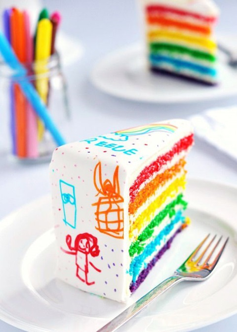 bolo de aniversario com desenho