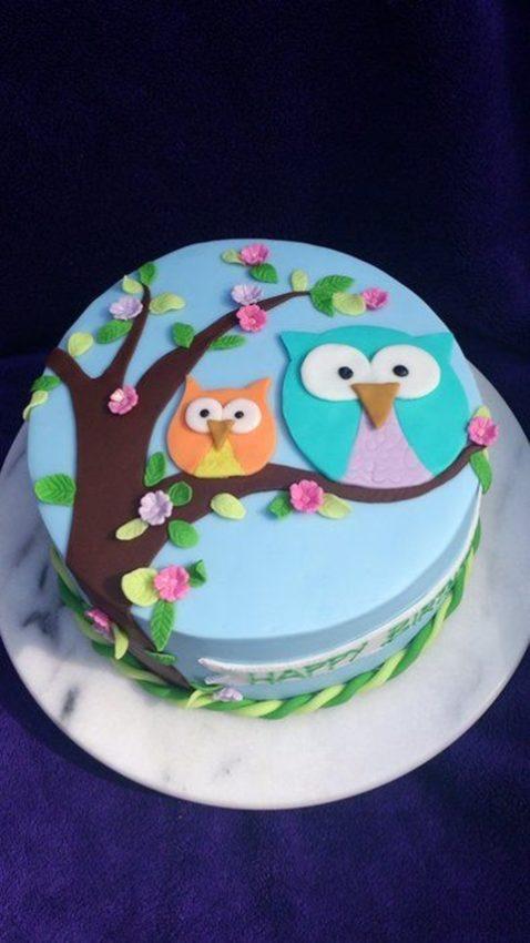 bolo de aniversario coruja