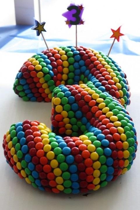 bolo de aniversario numero