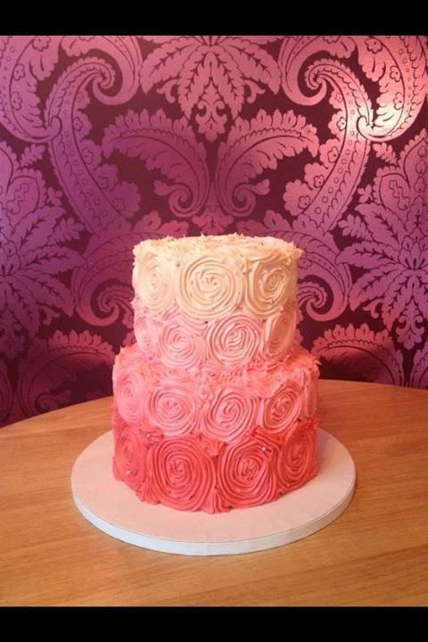 bolo de aniversario rosa