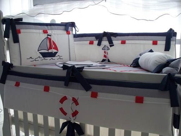 Decoracao Quarto Infantil Curitiba ~ Kit ber?o com tema marinheiro, da Enxovais Cordeirinho Baby