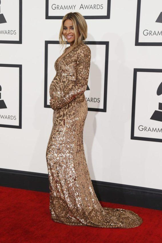 Cantora Ciara, grávida no Grammy Awards