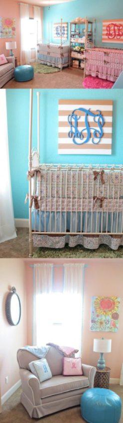 quarto de bebê para casal de gêmeos