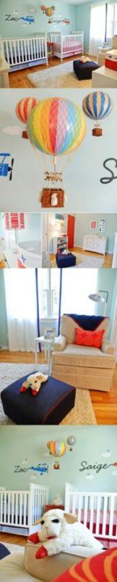 decorar quarto de bebê casal gêmeos