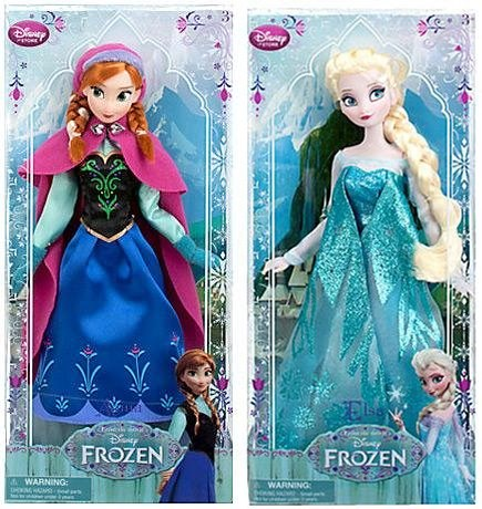 bonecas frozen elsa anna clássicas