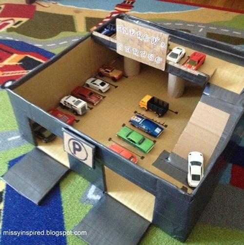 O que d para fazer com caixas de papel o mil dicas de m e for Costruendo un garage per 3 auto