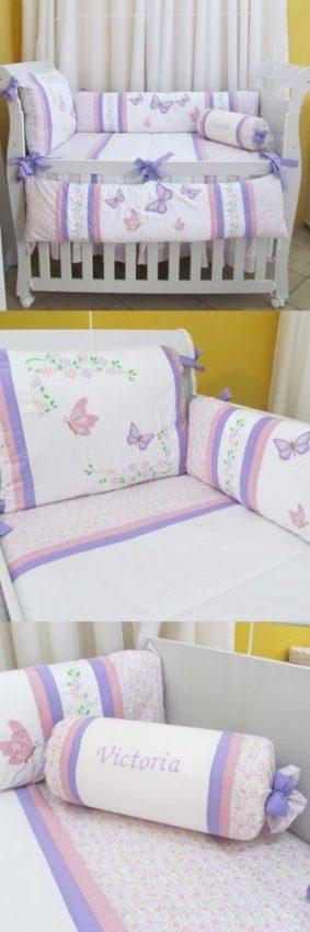 kit berço borboleta