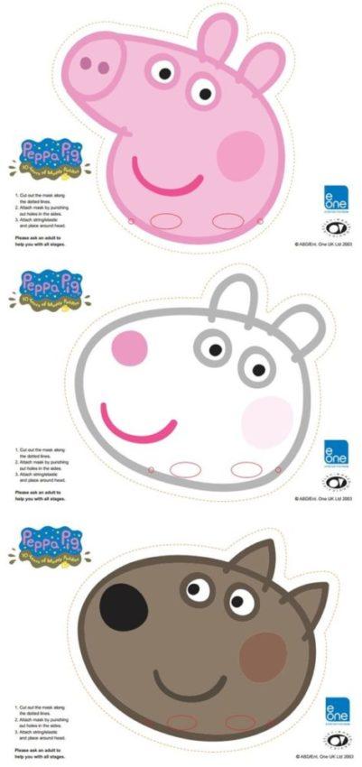 máscara peppa pig