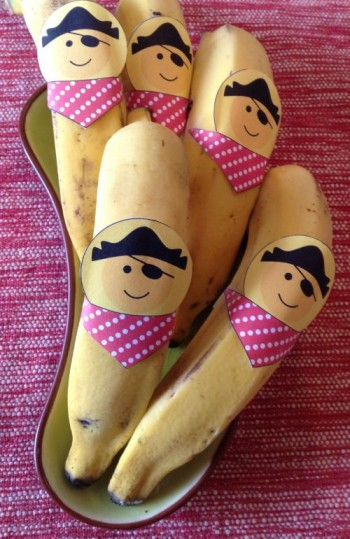 Banana-pirata: imprima e faça em casa!