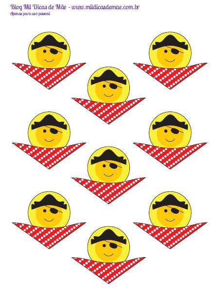 banana pirata para imprimir