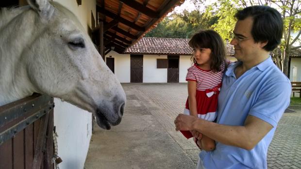 Catarina, papai e o cavalo