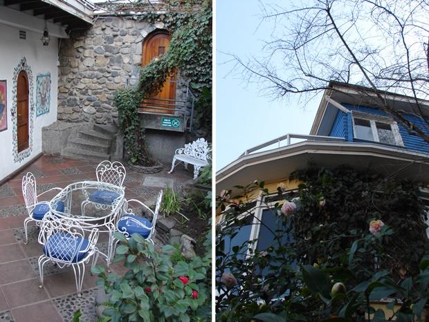 """Casa de Pablo Neruda, conhecida como """"A Chascona"""", fazendo referência à esposa do poeta. Chascona quer dizer descabelada."""