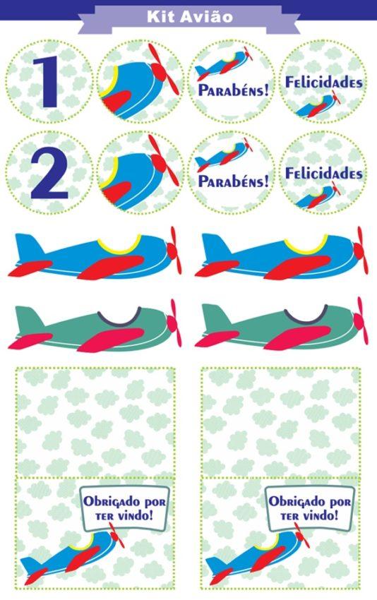 kit aviao para imprimir
