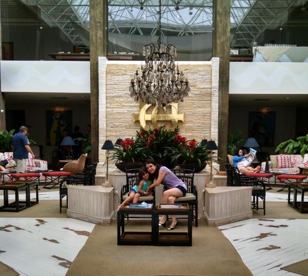 Hall de entrada do Casa Grande Hotel
