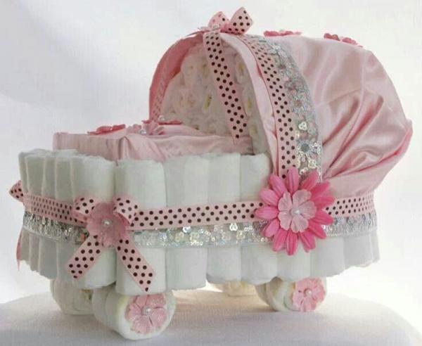Bolo de fralda rosa: 20 modelos para sonhar!