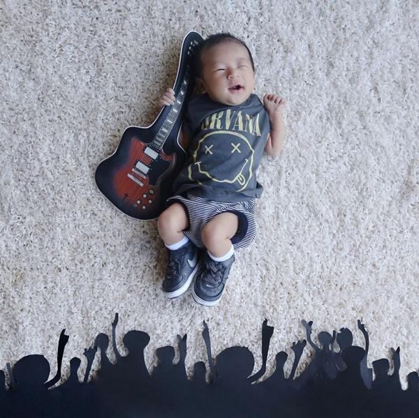 Tocando minha guitarra