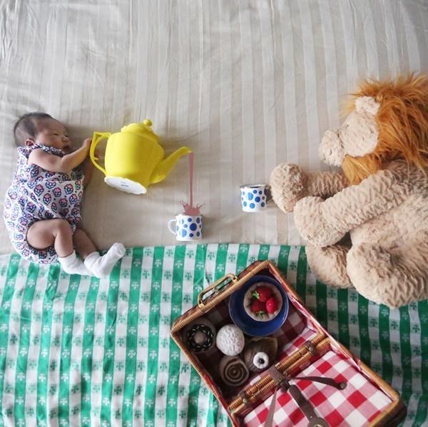 Tomando chá com o senhor Leão