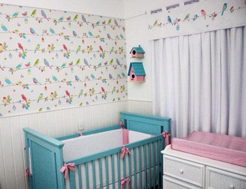 Quarto Bebe Feminino Azul E Rosa Car Interior Design ~ Quarto Rosa Azul
