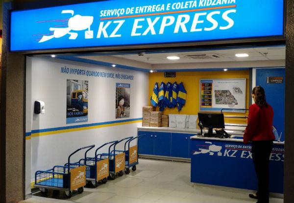 Serviço de entrega do Kidzania - os carteiros são as crianças