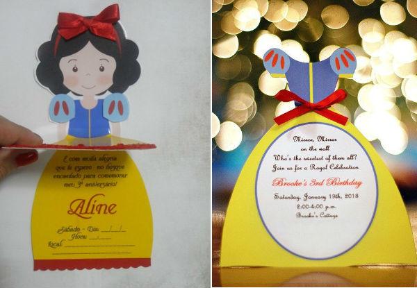 Imagens: http://www.elo7.com.br/convite-colecao-princesas-branca-de-neve e https://www.etsy.com