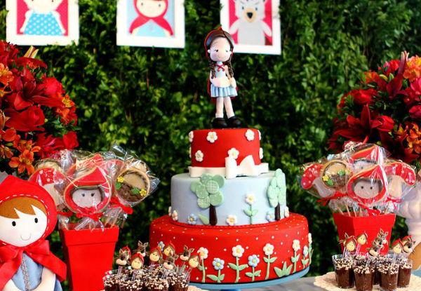Mais de 30 ideias para montar uma festa de Chapeuzinho Vermelho!