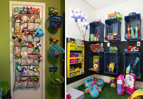 Ideias criativas para organizar os brinquedos do seu filho