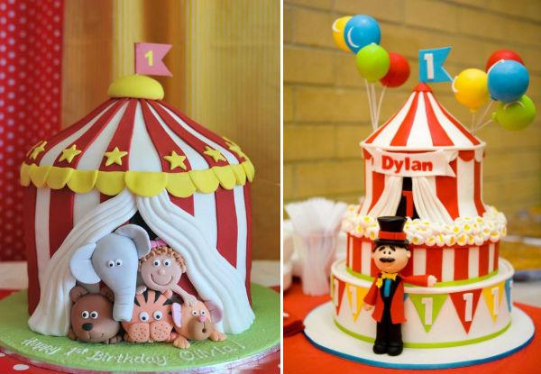 25 lindos modelos de bolo para uma festa circo!