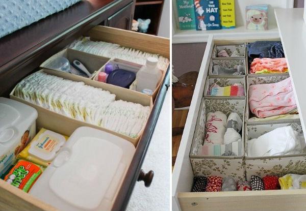 Ideias funcionais e inteligentes para organizar o quarto do bebê