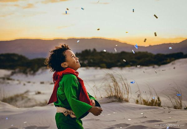 Fotógrafa registra o Pequeno Príncipe (negro e brasileiro, sim!) e cria ensaio mágico