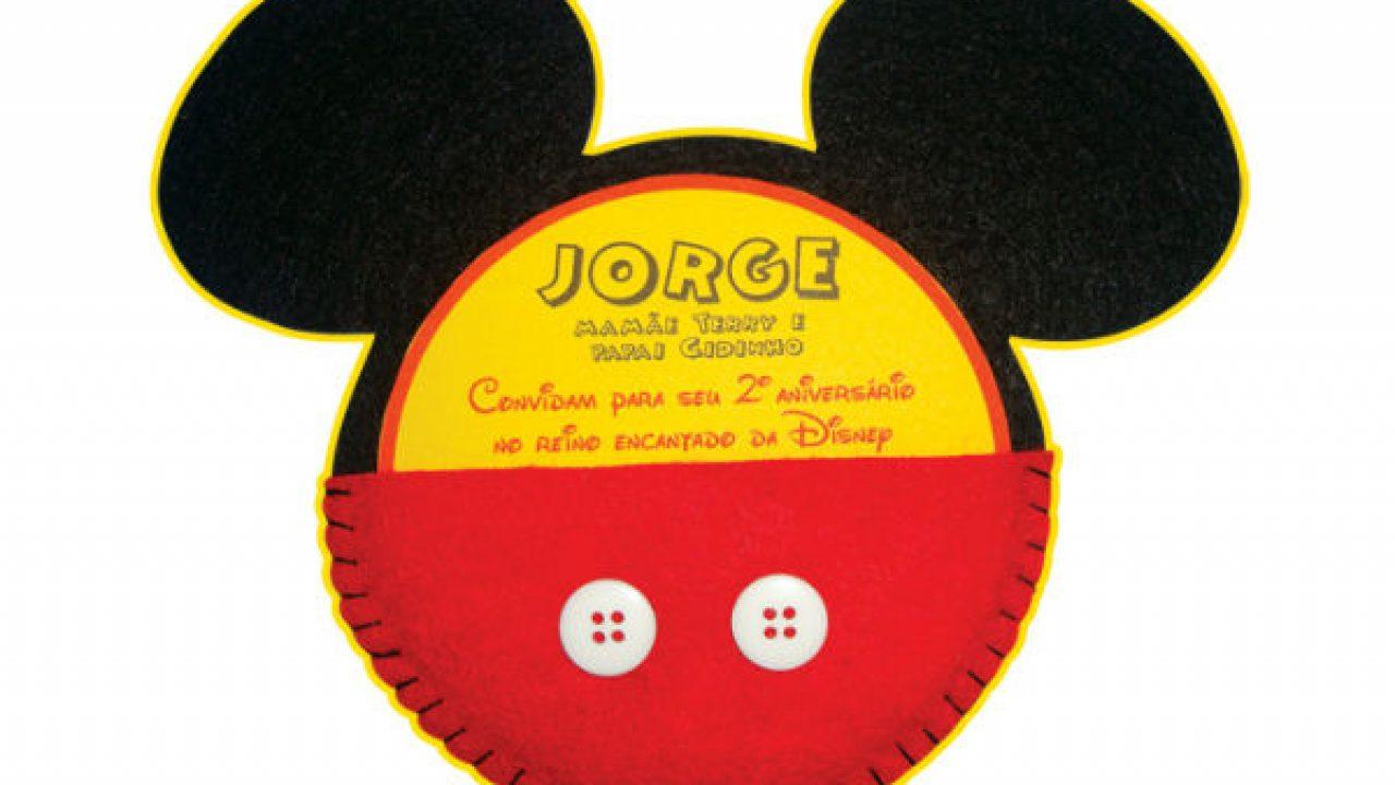 25 Convites Do Mickey Mouse Lindos Para Você Se Inspirar E